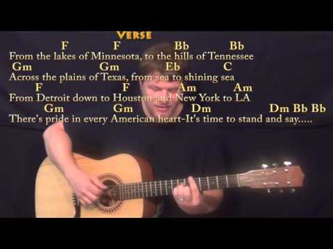 God Bless the USA - Fingerstyle Guitar Cover Lesson with Chords/Lyrics