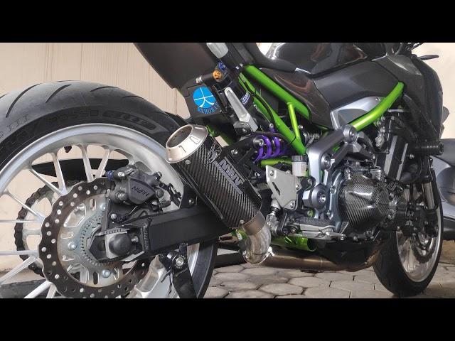 Z900 With MIVV MK3 Carbon Full System