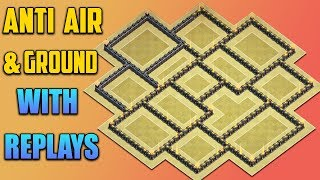 Coc New Th9 War Base 2017 With Replays Anti Everything Anti Lavaloon Anti 3 Star Anti 2 Star