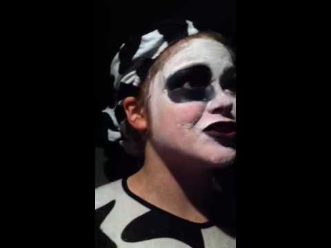Halloween cow makeup takeoff - YouTube