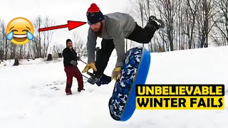 (TRY NOT TO LAUGH)-Insanely funny winter fails that will have you screaming with laughter MUST SEE