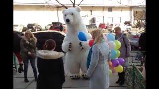 Поздравить с Днём Рождения Белый Медведь (Ростовая Кукла) Киев