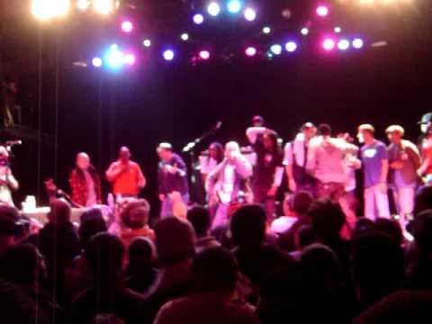 Big Daddy Kane & Buckshot Shorty at end of Hip Karaoke NYC 2010 Championship