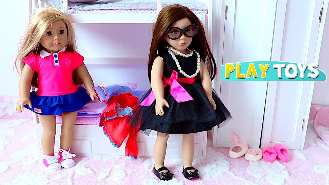 Baby Doll Hair Cut Shop! Play doll bedroom dress up closet!