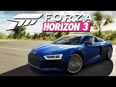 Zagrajmy w Forza Horizon 3 #18 - Lecę bokiem Audi R8 V10 Plus!