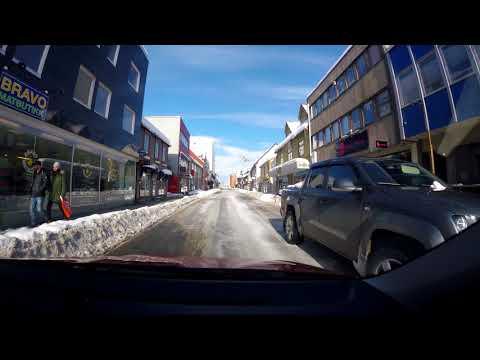 【4K】Norway Trip 2018, Tromso Downtown Drive