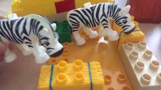 Игрушечный зоопарк для детей. Игрушки дикие звери. Учим животных