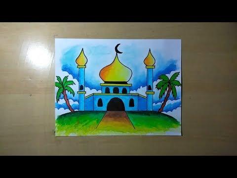Cara Menggambar Masjid Yang Indah Nusagates