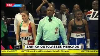 Zarika outclasses Mercado successfully defending her Super Bantamweight title