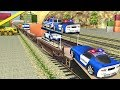 US Police Train Simulator Cop Car Transporter (by MobilMinds) Android Gameplay [HD]