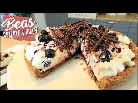 Heidelbeer-Spekulatius Torte Rezept   No-bake Torte Mit Joghurt-Sahne Creme
