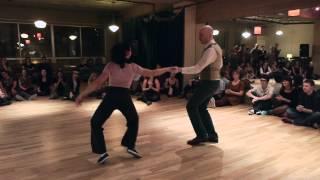 Swing dancing in Montreal: Virginie Jensen & Alain Fragman