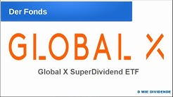 Global X SuperDividend ETF - 9% Dividende - ETF-Vorstellung