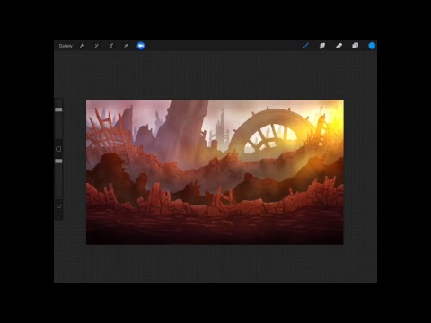 Painting An Infinity War-Style Background In Procreate