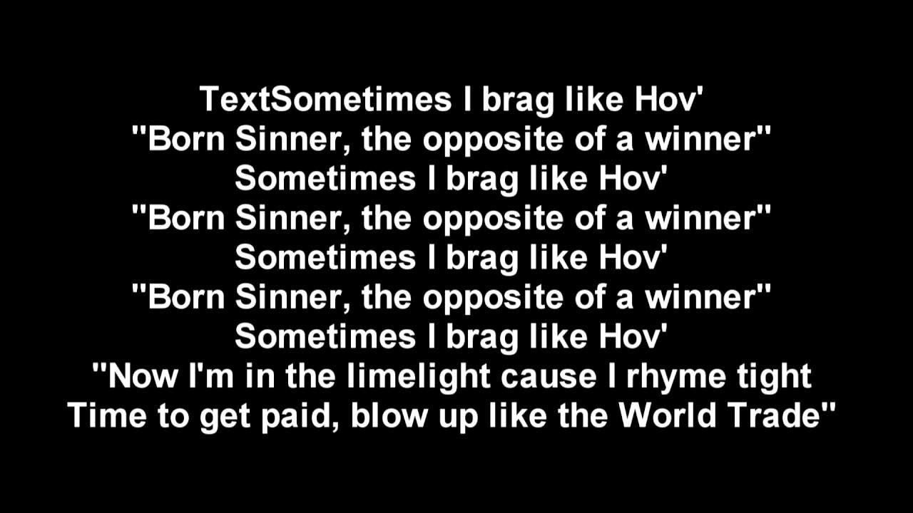 J. Cole -Born sinner- Villuminati LYRICS - YouTube