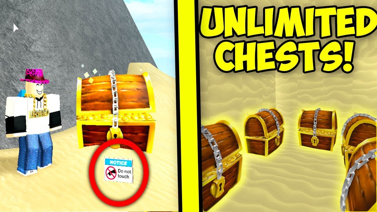 Unlimited Chests Glitch Method Treasure Hunt Simulator Roblox