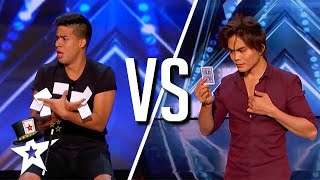 Cards VS Cards! Winston \u0026 Shin Lim on America's Got Talent | Magicians Got Talent