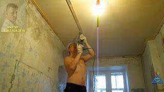 как сделать потолок в кухне из пластиковых панелей