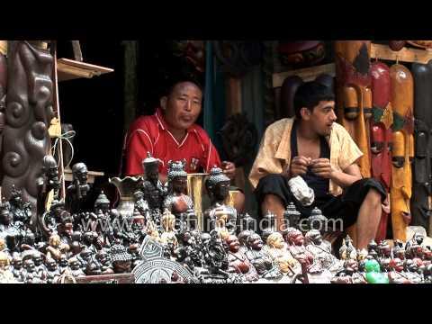 Street market in Kathmandu city, Nepal - YouTube