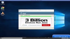 How to install Java JDK on Windows 10 ( with JAVA_HOME )