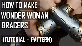 How to make Wonder Woman bracer (tutorial)