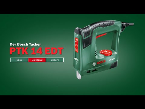 bosch stellt vor tacker ptk 14 edt youtube. Black Bedroom Furniture Sets. Home Design Ideas