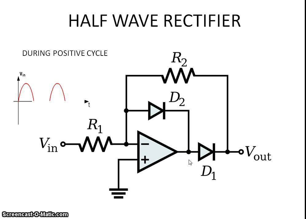 circuitlab diode halfwave rectifier