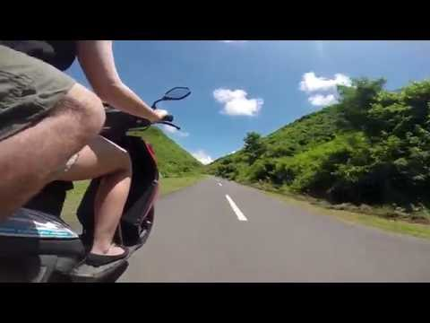 Driving scooter in Lombok   HD