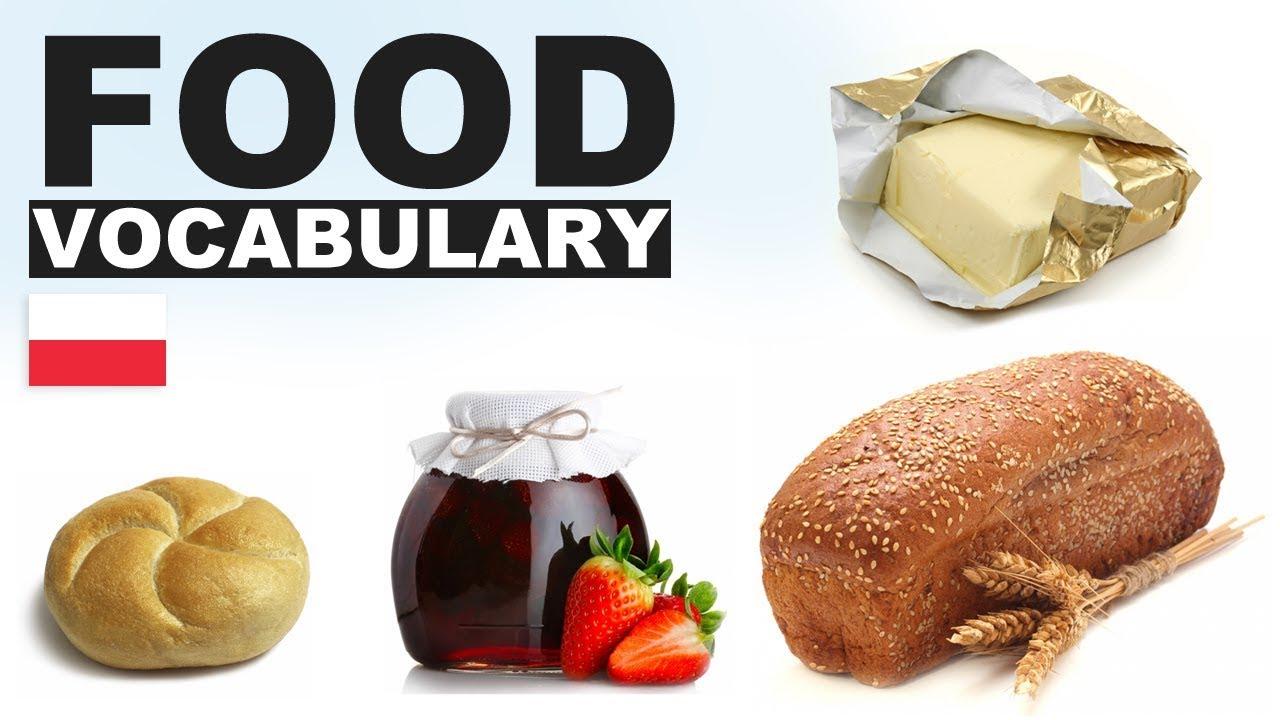Angielskie Słówka W Obrazkach Jedzenie 1 Food