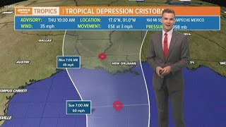 Noon Update on Tropical Depression Cristobal