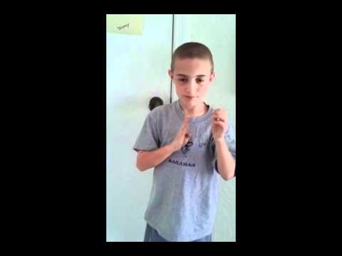 Jeremy signing Cub Scout Promise in ASL for loops - YouTube