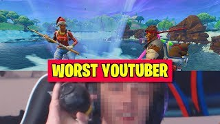 Meet the world's WORST fortnite youtuber... (he sucks at fortnite)