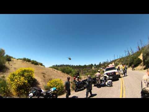 06 14 2015 Head On Collision Crash Angeles Crest Highway CA-2