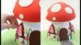 SMURF Mushroom House Cake! thumbnail