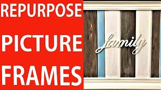DIY How to Upgrade and Reuse an Old Picture Frame | DIY Decor Ideas Video