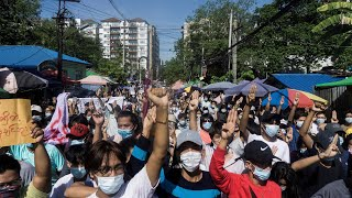 video: Watch: Anti-coup activists stage flash mob protest in Myanmar