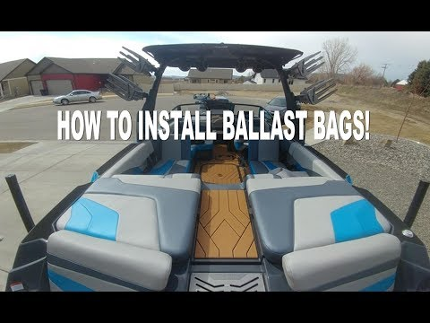 HOW TO INSTALL BALLAST BAGS on Malibu or Axis Plug n Play.  Episode 1 - DIY Series