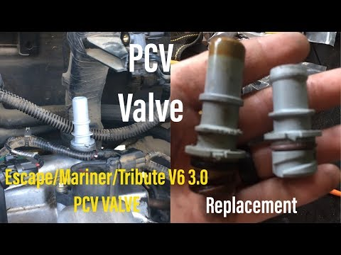 How To Replace PCV Valve for Ford Escape v6 3.0 Mercury Mariner & Mazda Tribute  (Please Subscribe)