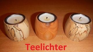 Teelichthalter drechseln   Woodturning some Tealight holders DIY