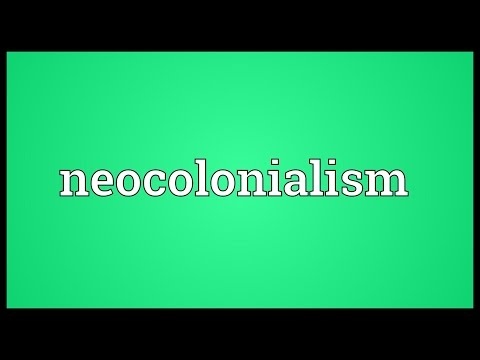Header of neocolonialism