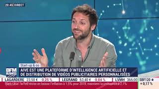 """Aive """"Créer le plus grand studio vidéo au monde, grâce à une #IA creative"""" Olivier Reynaud, CEO co-fondateur d'Aive, au micro de Tech&co sur BFM Business ..."""