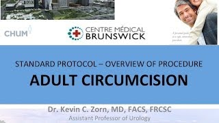 CIRCUMCISION - ADULT MALE EDUCATIONAL VIDEO - ENGLISH 2013   Dr. Kevin Zorn