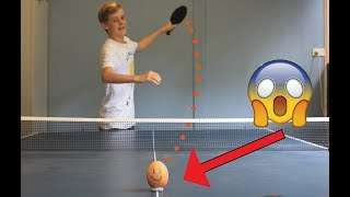 EGG vs 120mph PING PONG BALL! (GONE WRONG)