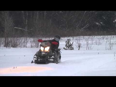 Tundra Xtreme 600 E-tec. Димон осваивает снегоход.