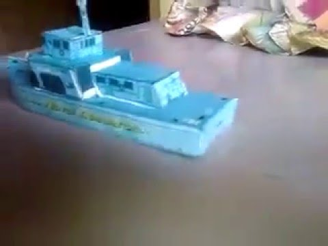 Papercraft homemade paper model ship