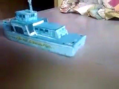 Papercraft homemade paper model ship
