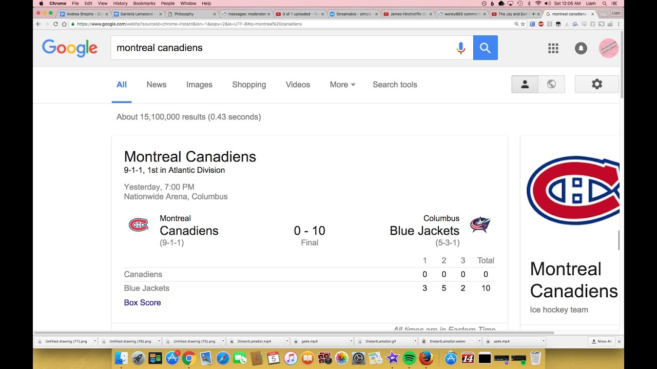 Habs and Blue Jackets have a very close game - YouTube