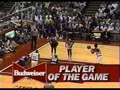 NBA 1994 WCF Game 1 Jazz@Rockets (Hakeem's 41 vs Malone's 32)