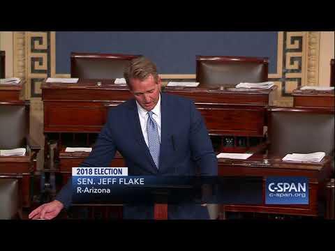 Sen. Jeff Flake won't seek re-election -- FULL SPEECH -- (C-SPAN)