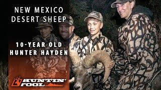 New Mexico Desert Bighorn Sheep Hunt with 10 year old Hayden Casson
